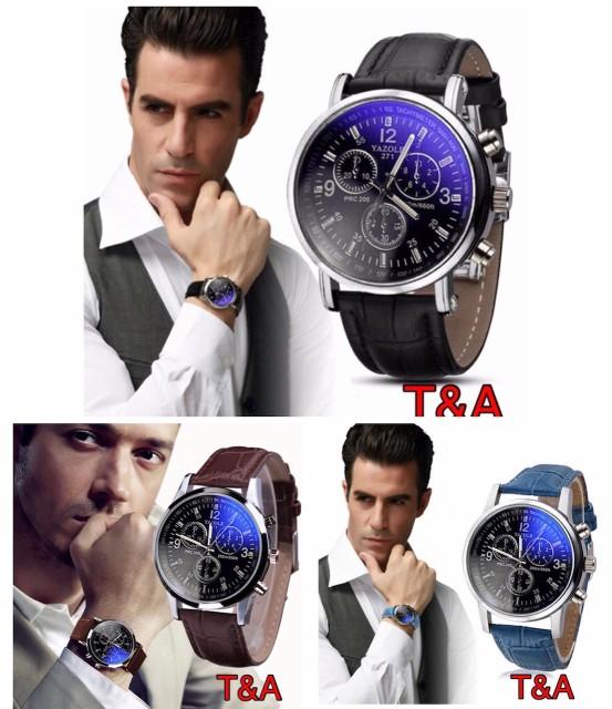 2 腕時計 時計 メンズ  高品質レザー 革 ベ...