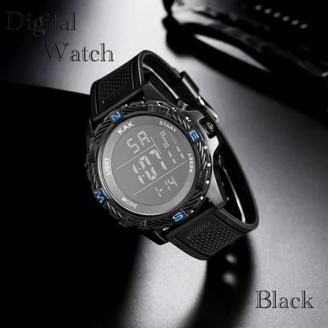 スポーツ腕時計 腕時計 時計 LED デジタル腕時...