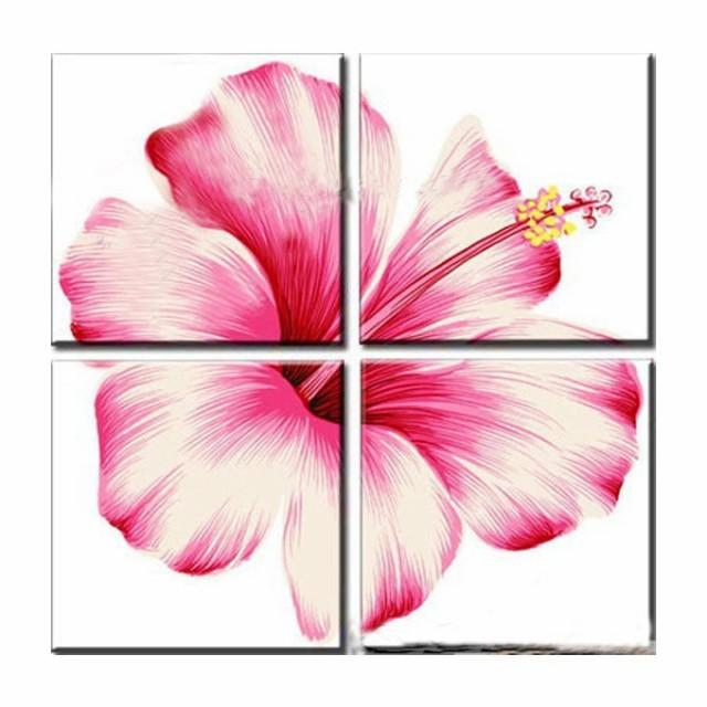 【ミニ】4枚組W60cm 花 和風 絵画 壁掛け アート ...