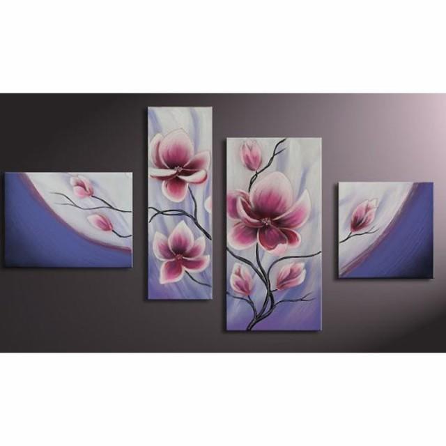 【ミニ】4枚組W110cm 花 和風 絵画 壁掛け アート...