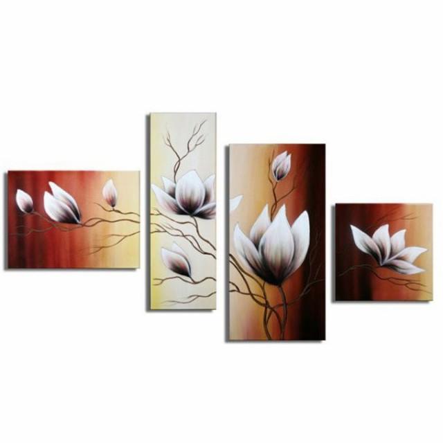 【ミニ】3枚組W110cm 花 和風 絵画 壁掛け アート...