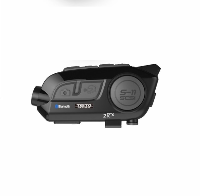 【TEITO】 バイク用 2K高画質カメラ付きインカム...
