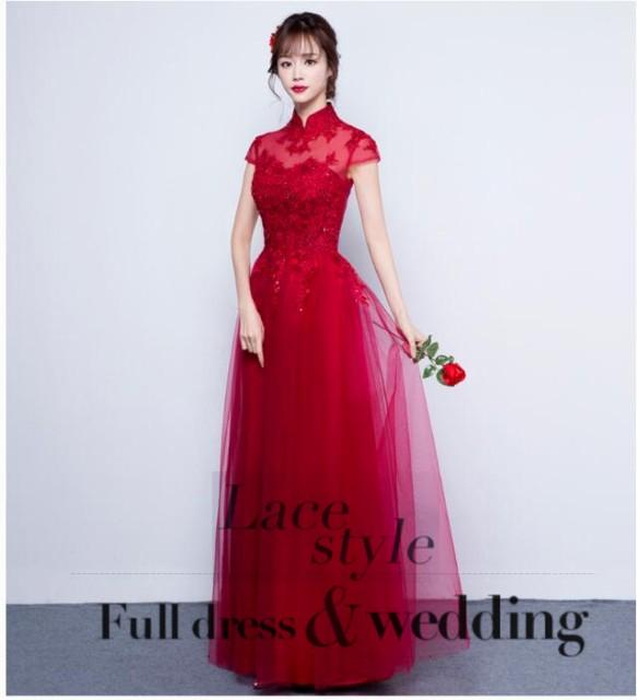 パーティードレス ロングドレス  結婚式 ドレスス...