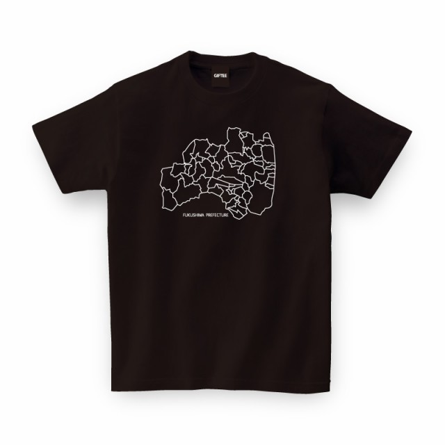 FUKUSHIMA MAP TEE(福島県)全国 ご当地 Tシャツ...