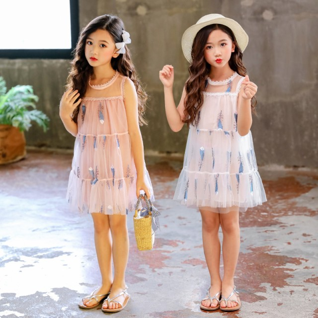 ◇ノースリーブワンピース◇韓国子供服 袖なし リ...