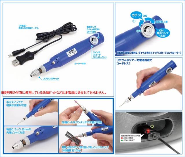 ウェーブ【HT-205】 USB充電式 コードレスルータ...