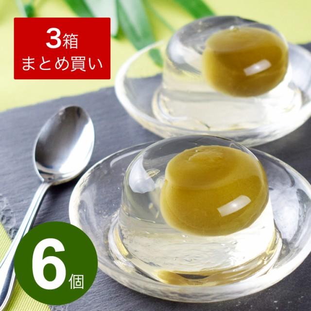 梅 ゼリー 梅の実入り 梅ゼリー(6個入り×3箱)...