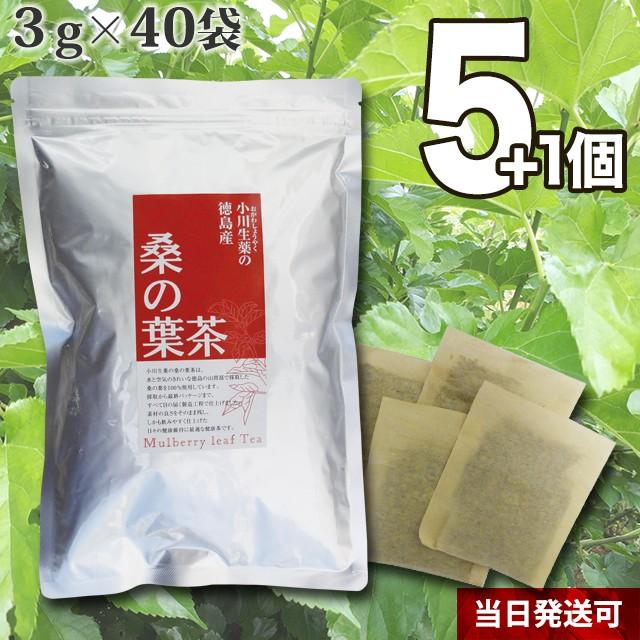 【送料無料】小川生薬 徳島産桑の葉茶 3g×40袋 5...