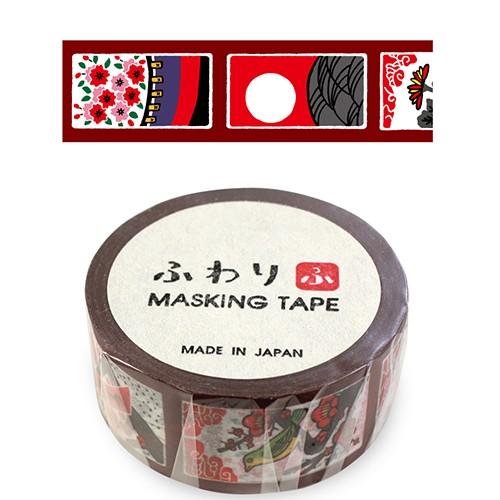 ふわり マスキングテープ FW47014 花札