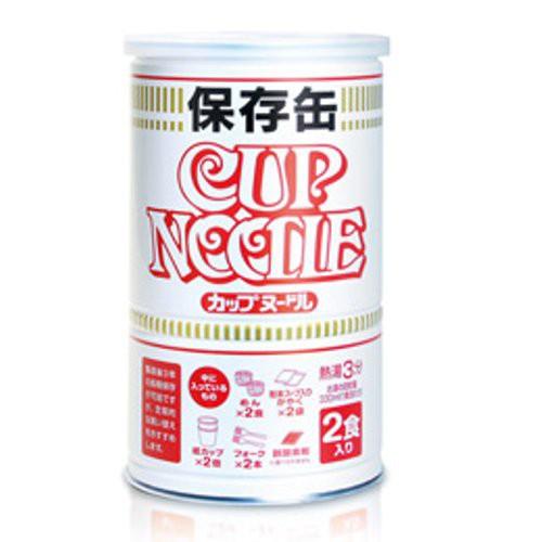 日清食品 カップヌードル保存缶 2食入│非常食