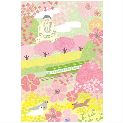 学研 桜イラストポストカード AE15868 大仏