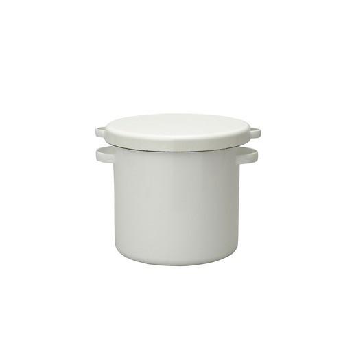 野田琺瑯 ラウンドストッカー 21cm 7L│保存容器 漬物容器
