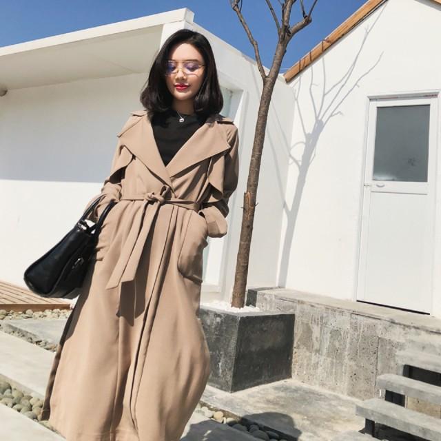 【2018春新作】トレンチコート ベーシック ロング...