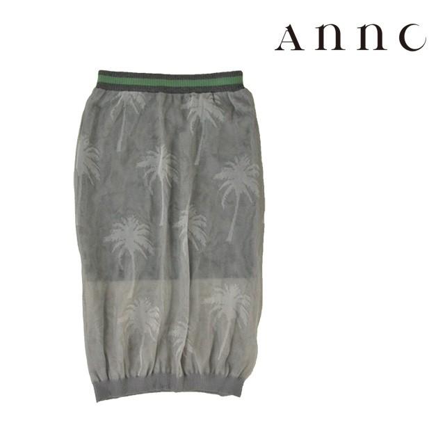 Annc/アンク シースルースカート レディース グレ...