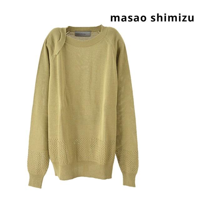 masao shimizu/マサオシミズ ラウンドネックニッ...
