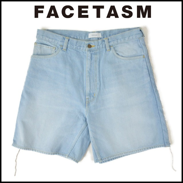 FACETASM ファセッタズム BALL CHAIN DENIM SHORT...