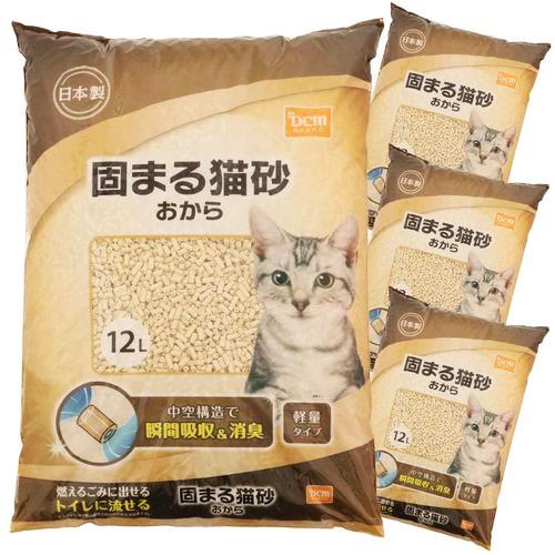 DCMブランド 【ケース販売】固まる猫砂おから12L...