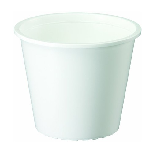 ヤマト プラ鉢 0.3L ホワイト ホワイト 3号鉢