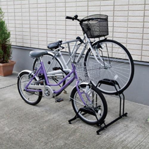 アイリスオーヤマ 自転車スタンド BYS-2 ブラッ...