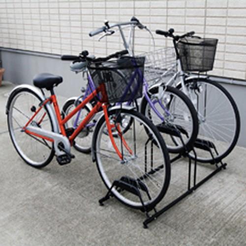アイリスオーヤマ 自転車スタンド BYS-3 ブラッ...