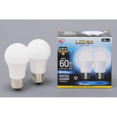 アイリスオーヤマ LED電球E26広配光60形相当昼白...