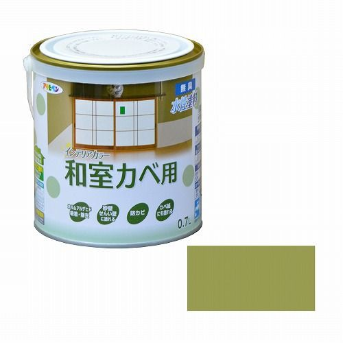 アサヒペン インテリアカラー和室カベ用0.7L う...