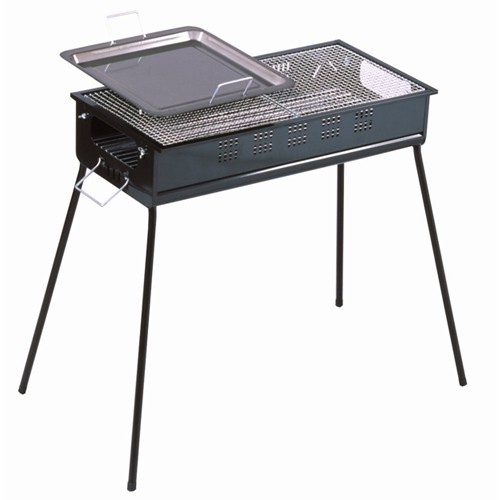 グリーンライフ BBQコンロ650鉄板付