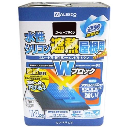 カンペハピオ 水性シリコン遮熱屋根用 14K コ...