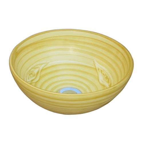 洗面ボウル 陶器 オンカウンタータイプ ラウンド ...