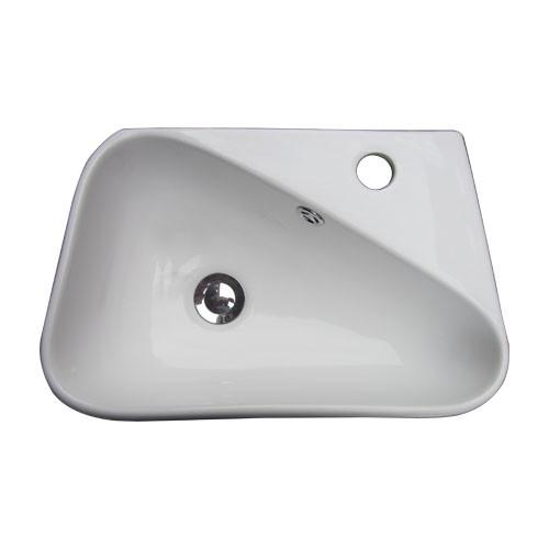洗面ボウル 陶器 オンカウンター/壁掛けタイプ 幅...