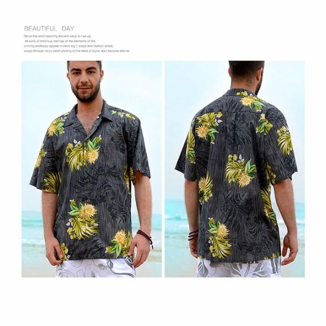 【Palmwave】アロハシャツ 半袖シャツ ハワイアン...