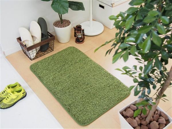 ふっくら贅沢な芝生風玄関マット 屋内 室内 洗え...