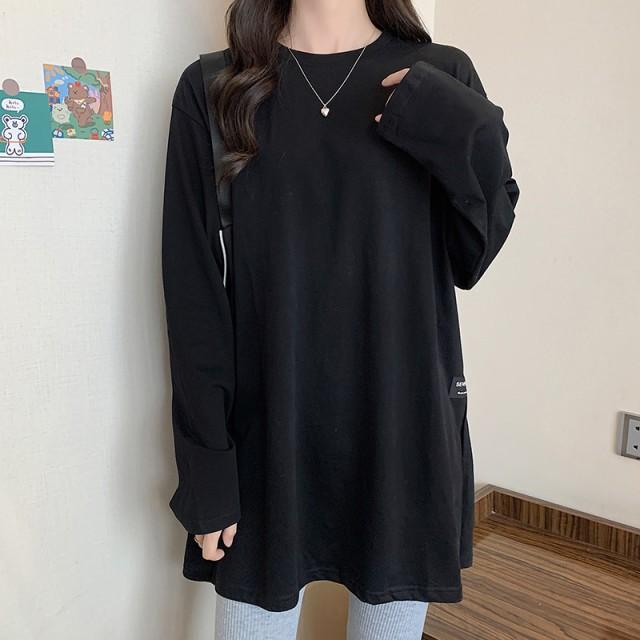 秋新作 Tシャツ 長袖 レディース ロングTシャツ ...