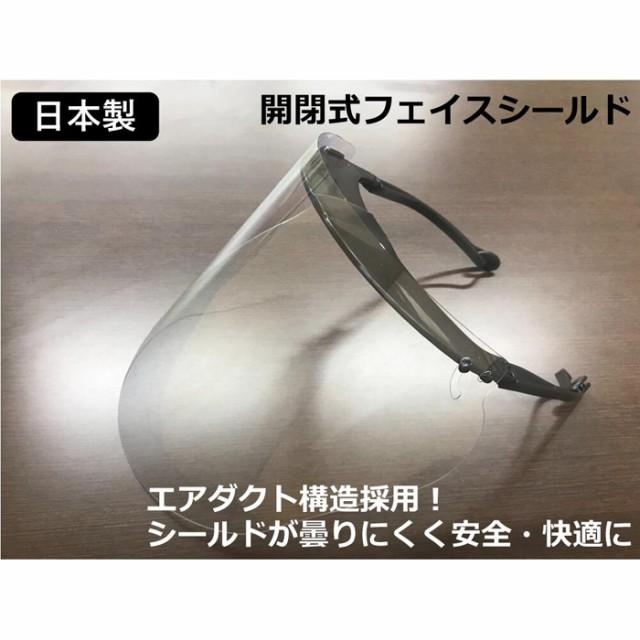 (代引き不可) 日本製 耐久性高 開閉式フェイスシ...
