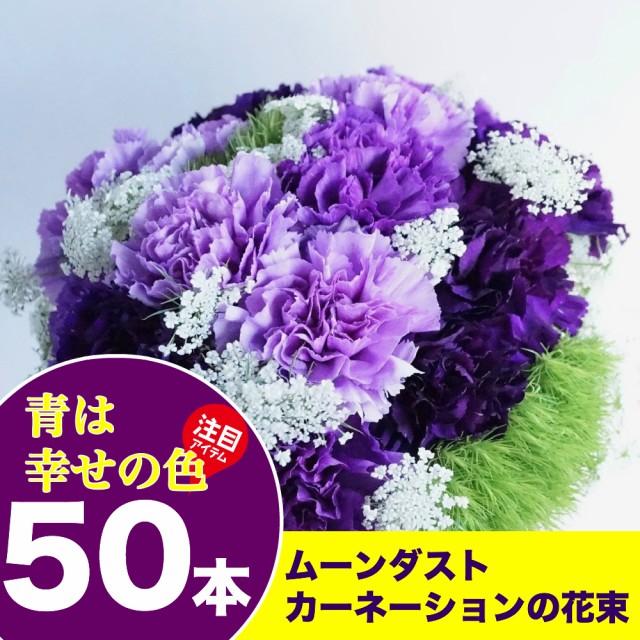 送料無料 ムーンダストカーネーション50本の花束 ...