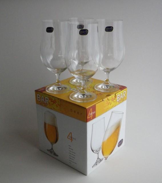 ボヘミアングラス ビールグラス4個セット CXB-1...