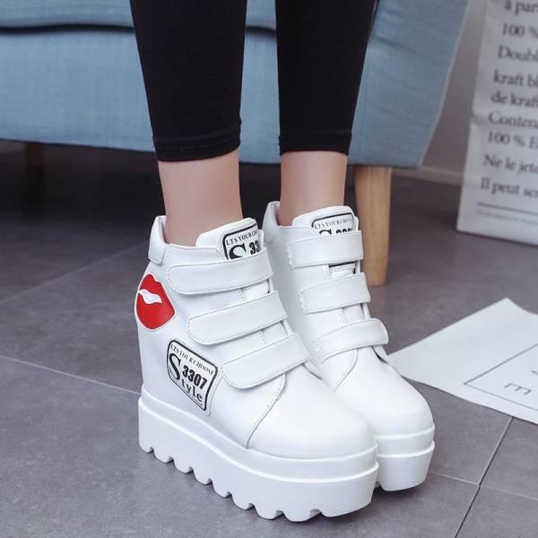 レディース上品質厚底 厚底靴/レディースインヒー...