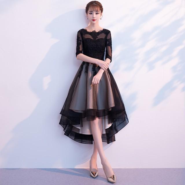 パーティードレス ドレス 結婚式 謝恩式 ワンピー...