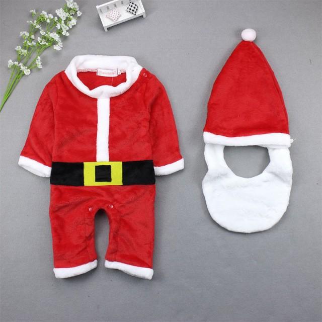 クリスマス サンタクロース コスチューム 男の子 コスプレ サンタ トナカイ 変装 ベビー 子供 キッズ 仮装 クリスマス 80