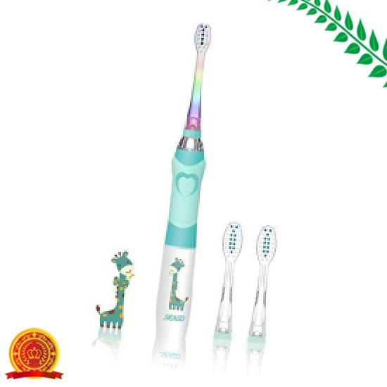 電動歯ブラシ子供用 音波歯ブラシLEDランプ付き ...