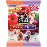 【ぷるんと蒟蒻ゼリー パウチ アップル+グレープ ...