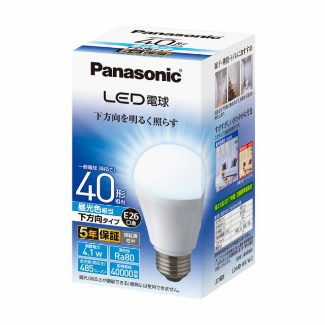 パナソニック LED電球 4.1W E26 昼光色相当 LDA4D...