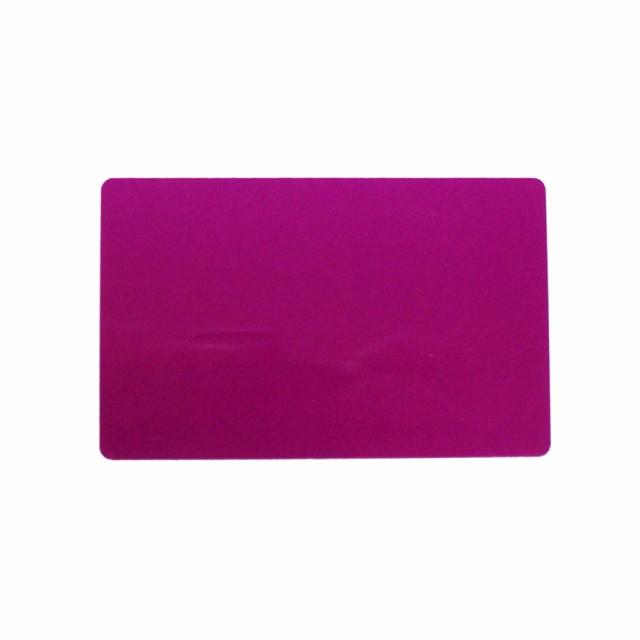 アルミニウムカード 86x54mm ピンク 名刺サイズ ...