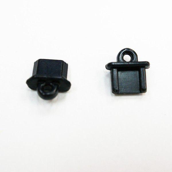 Micro USB Micro-B コネクタカバー STP-24 黒 2個...