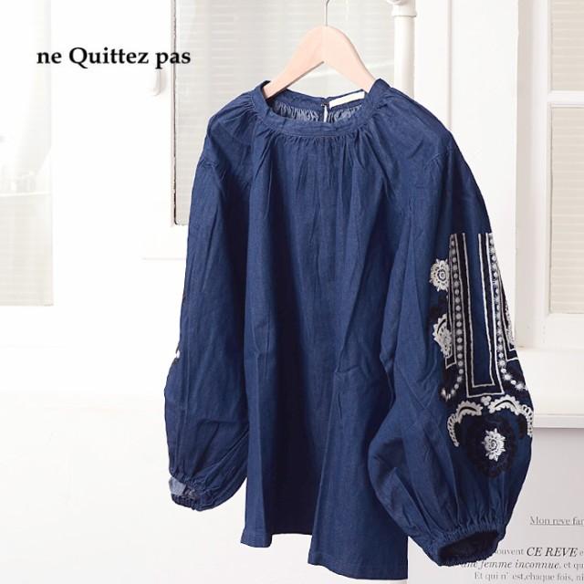 **ne Quittez pas〔ヌキテパ〕LC8086-I袖フラワー...