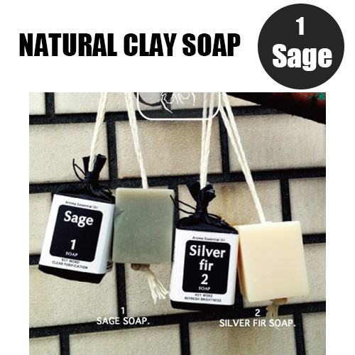Urban ole ecopark Natural Clay Soap 1.セージ ...