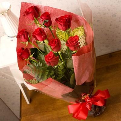 シンフォニー(お祝い用赤バラギフト花束) 誕生日...
