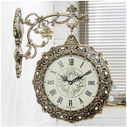 両面時計 掛け時計 シルクスマイル両面時計 おし...
