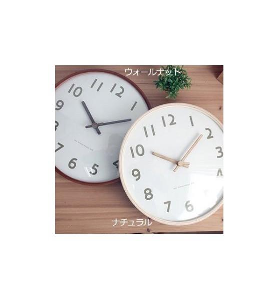 掛け時計 ハンドメイド 300ウッドホワイト 木製掛け時計 振り子時計 壁掛け時計 おしゃれ 掛時計 北欧 時計 インテリア