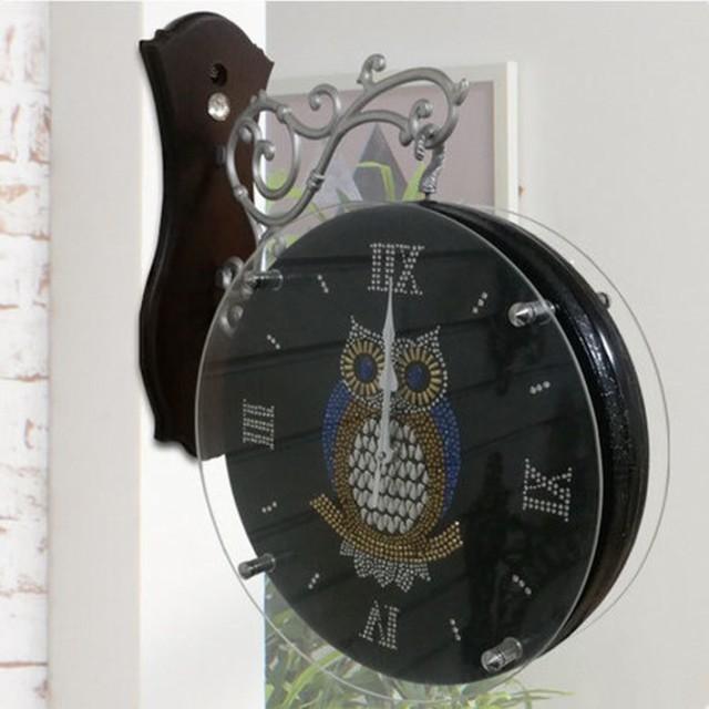 ふくろう両面時計YORB